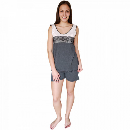 Pijamale Dama Bumbac 100%, Brand Charachter, 'Love Inspiration' Gray