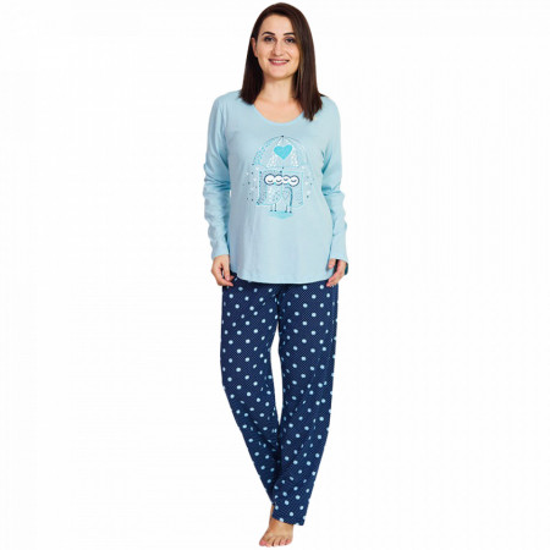 Pijamale Dama Marimi Mari Vienetta, 'Love Story' Blue