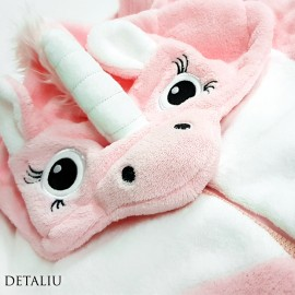 Poze Salopeta Dama Pufoasa Welsoft, Model 'Pink Unicorn'