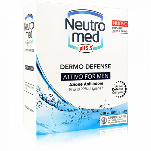 Sapun Lichid Gel Intim Barbati Inclusiv Impotriva Mirosurilor Neutro Med Attivo 200ml
