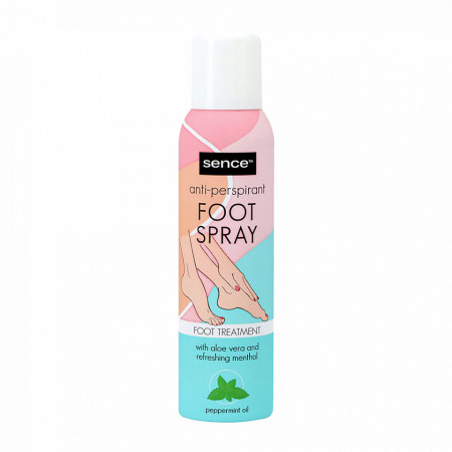 Tratament Picioare cu Aloe si Mentol, Deodorant Antiperspirant Sence Foot Spray