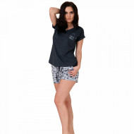 Pijamale Dama Bumbac, M-Max, Model 'Espresso Yourself' Dark