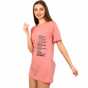 Camasa de Noapte Mini, Ghiche Fashion, Model 'The Cities Moschino' Mineral Pink