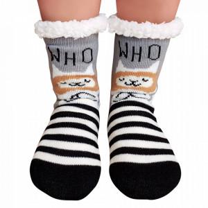 Ciorapi Imblaniti si Caldurosi Lady-Line Model 'Resting Kittens' Black and White
