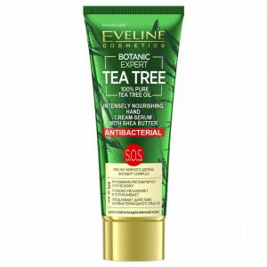 Crema Ser Maini Hranitoare si Antibacteriana Botanic Expert Tea Tree Eveline Cosmetics