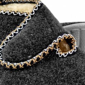 Ghete din Lana pentru Interior si Exterior Culoare Gri, Model 'Bucovina Style'