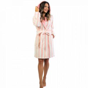 Halat Dama cu Gluga Cocolino Extra Soft Vienetta Soft & Pure 'Pink Angel'