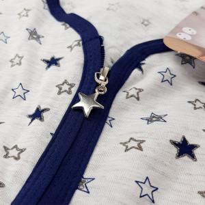 Halate Dama cu Fermoar Marimi Mari Vienetta Model 'Stellar Sparkles' Blue