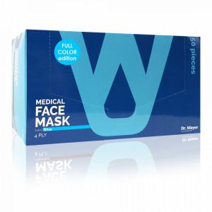 Masca Faciala Medicala cu 4 Straturi Dr. Mayer Blue Full Color Edition Cutie 50 Bucati