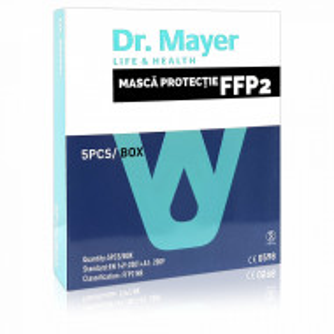 Masca Protectie FFP2 Fara Supapa Dr. Mayer White Edition Cutie 5 Buc