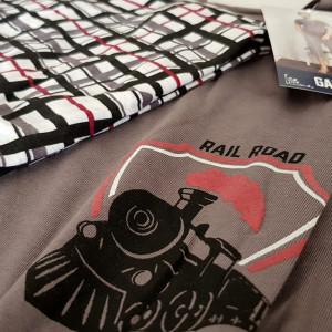 Pijama Barbati Gazzaz by Vienetta, 'Rail Road'