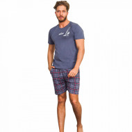 Pijama Barbati Gazzaz by Vienetta, 'Wind Surfing' Gray