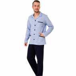 Pijama cu Nasturi Barbat, 'Casual Blue', M-Max