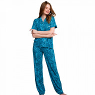 Pijama Dama cu Nasturi Vienetta Classic, Model 'Classic is Always in Trend'