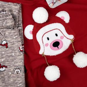 Pijama Dama din Bumbac Vatuita la Interior Vienetta Model 'Sweet Sweet Bear'