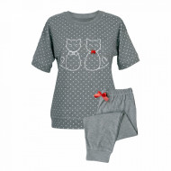 Pijama Dama Muzzy, Model 'Kitty Family' Gray