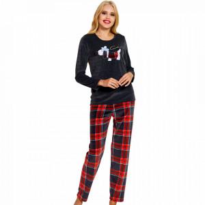 Pijama Dama Soft Velur, Vienetta, 'British & Chic'