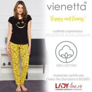 Pijama Dama Vienetta Bumbac 100%, 'Happy Night'