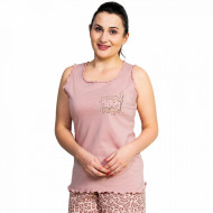Pijama Dama Vienetta, Bumbac 100%, Model Lovely Cat