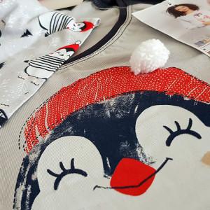 Pijama Dama Vienetta, Bumbac, Model Warm and Happy Wishes