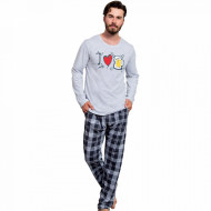 Pijamale Barbati Gazzaz by Vienetta 'I Love Bear' Light