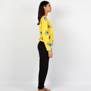 Pijamale Confortabile Dama din Bumbac Vienetta Model 'I See You'