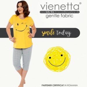 Pijamale Confortabile Dama Marimi Mari Vienetta Model 'Smile Today'