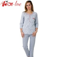 Pijamale Dama Bumbac 100%, M-M Nightwear, 'Silver And Shadows'