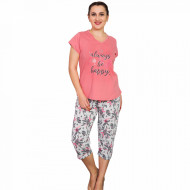 Pijamale Dama Marimi Mari, Vienetta, 'Always be Happy' Pink