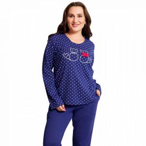 Pijamale Dama Marimi Mari Vienetta Model 'Love Story' Blue