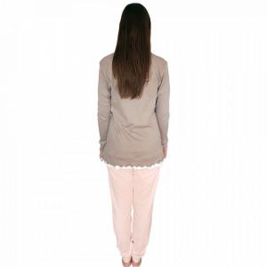 Pijamale Dama Snelly L'Originale, Bumbac 100%, 'Nostalgic Beauty'