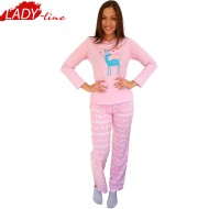 Pijamale Dama Toamna, Model Goodnight Season, Producator Benter Fashion Wear, Bumbac 100%, Culoare Roz