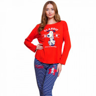 Pijamale Dama Vienetta Model 'Classic Happiness' Red