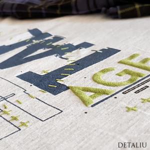 Pijamale Gazzaz by Vienetta, Bumbac 100%, 'Digital Age' Gray