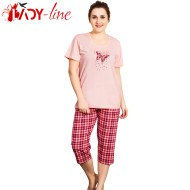 Pijamale Vienetta Secret, Bumbac 100%, 'Dream Pink'