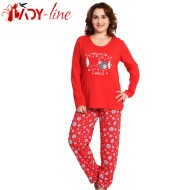 Pijamale Vienetta Secret, Bumbac 100%, 'Sweet Love' Red