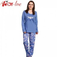 Pijamale Vienetta Secret, Bumbac 100%, 'You Are Beautiful' Blue