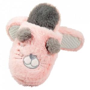 Slapi de Casa Foarte Pufosi Lady-Line, 'Meow' Pink