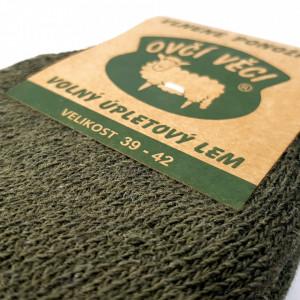 Sosete Calduroase din 80% Lana de Oaie Naturala Culoare Verde Siberian