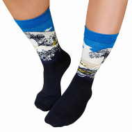 Sosete Clasice Colorate Unisex Cosas Boutique Socks Model 'The Great Wave off Kanagawa''
