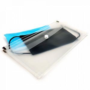 Suport 2 Compartimente cu Zip si Capsa pentru Masti Faciale Medicale