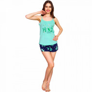 Pijamale Dama Vienetta, 'Hot Like a Sun' Culoare Verde