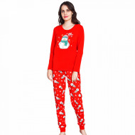 Pijama Dama Bumbac Vienetta, Model Love Winter and Snowman