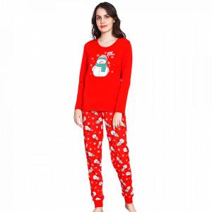 Pijama Dama Bumbac Vienetta, Model Love Winter and Snowman