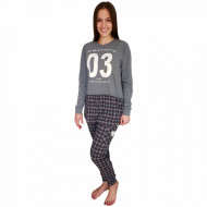 Pijamale Dama Bumbac 100%, Charachter, 'Private And Secret' Gray