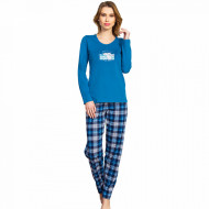 Pijamale Dama Vienetta, Model 'Girl Power' Blue