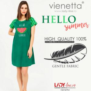Camasa de Noapte cu Maneca Scurta Vienetta, Model 'Hello Summer'