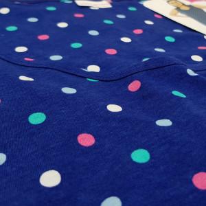 Camasa de Noapte din Bumbac Marimi Mari Vienetta Model 'Butterflys' Blue