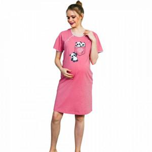 Camasa pentru Gravide si Alaptat Vienetta, 'Adventure Begins' Pink