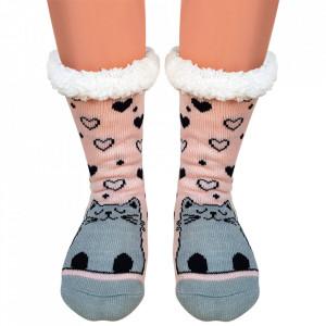 Ciorapi Imblaniti Lady-Line, 'Meaw'
